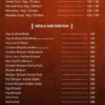 Vandana Andhra and Multi Cuisine Restaurant menu