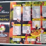 Cafe 7 Bees menu